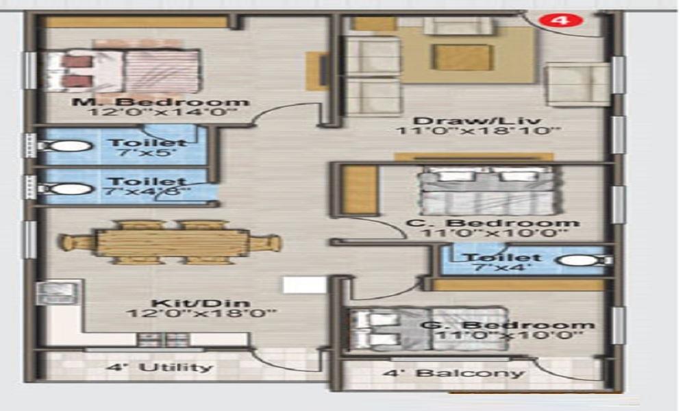 Tetra Green Pride Floor Plan