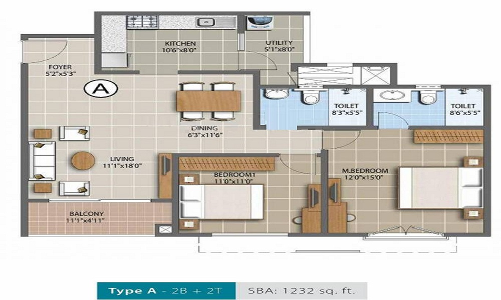 Purva Palm Beach Floor Plan