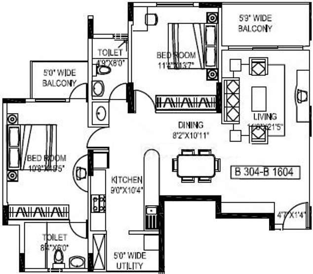 Mantri Astra Floor Plan