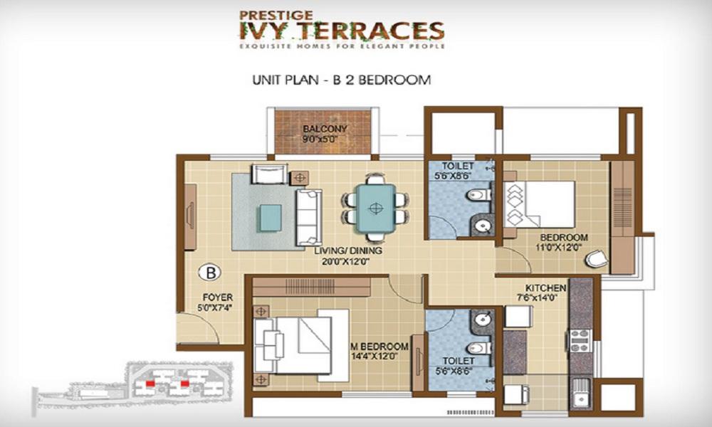 Prestige Ivy Terraces Floor Plan