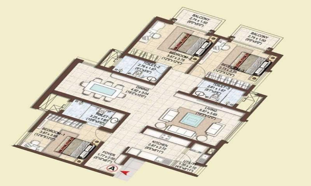 Pashmina Waterfront Floor Plan