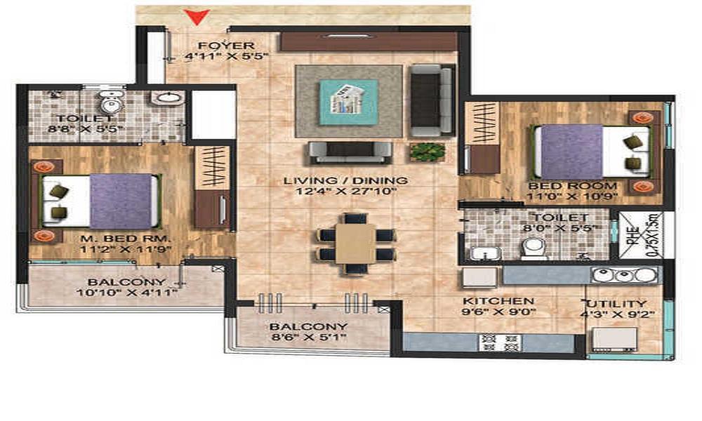 Salarpuria Sattva Celesta Floor Plan