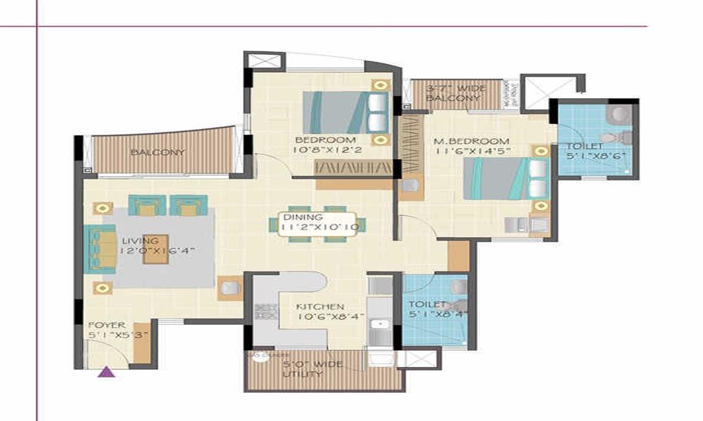 Nitesh Forest Hills Floor Plan