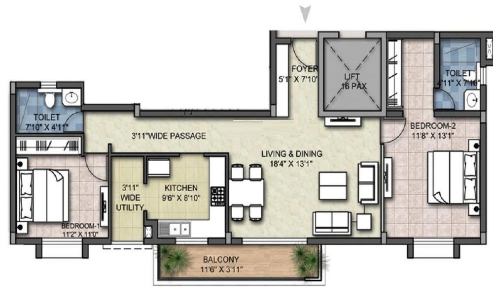 LGCL United Towers Floor Plan
