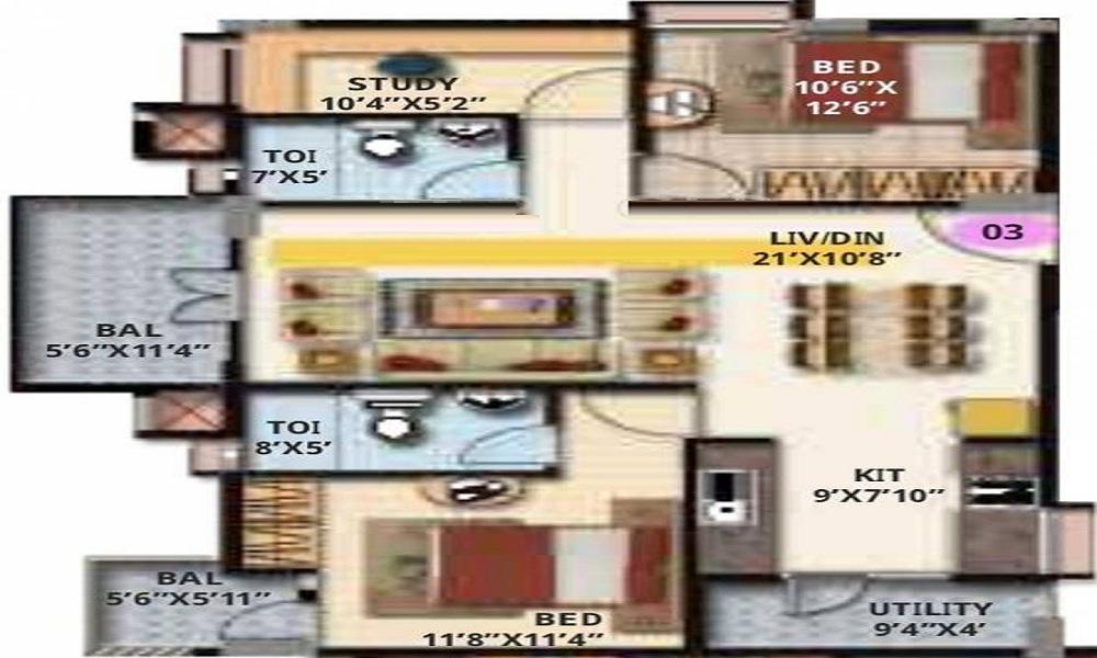 Maithri Shilpitha Splendour Annex Floor Plan
