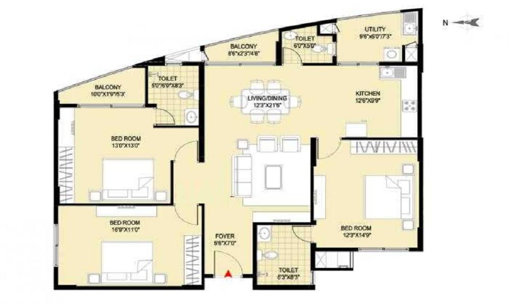 Klassik Landmark Floor Plan