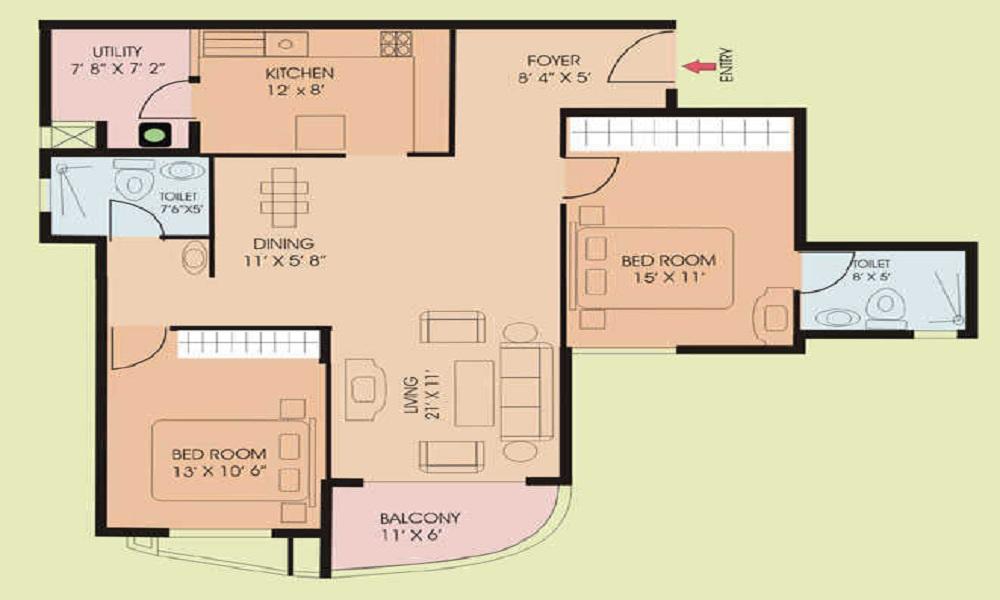 NCC Urban Nagarjuna Greenridge Floor Plan