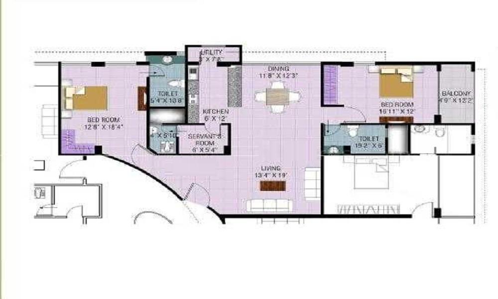 Elegant Pristine Floor Plan