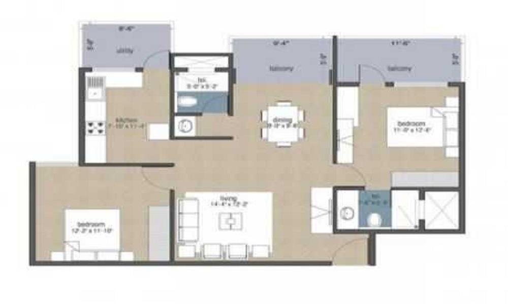 Aban Tranquil Floor Plan