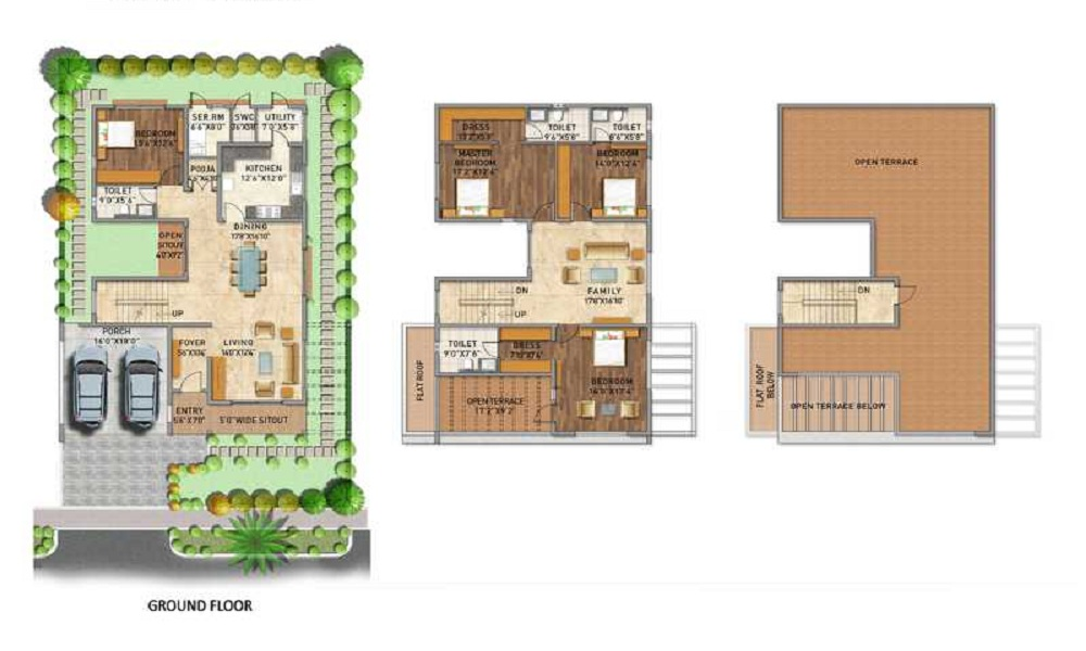 Adarsh Palm Acres Floor Plan