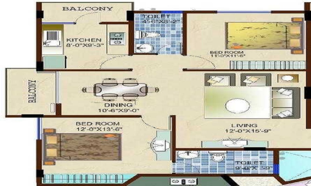 Aesthetic Blueberry Apartments Floor Plan