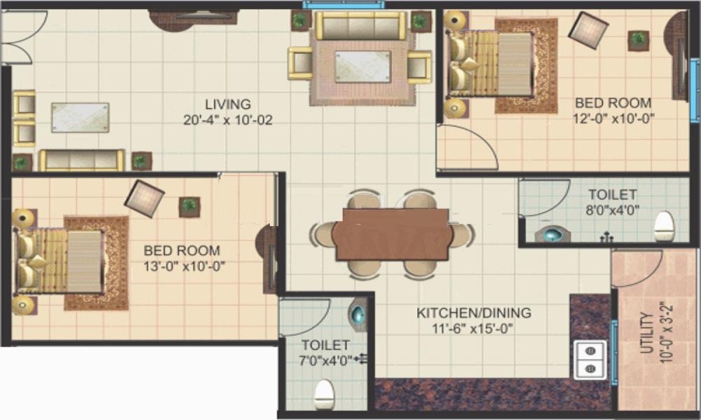 Amigo Sri Sai Icon Floor Plan