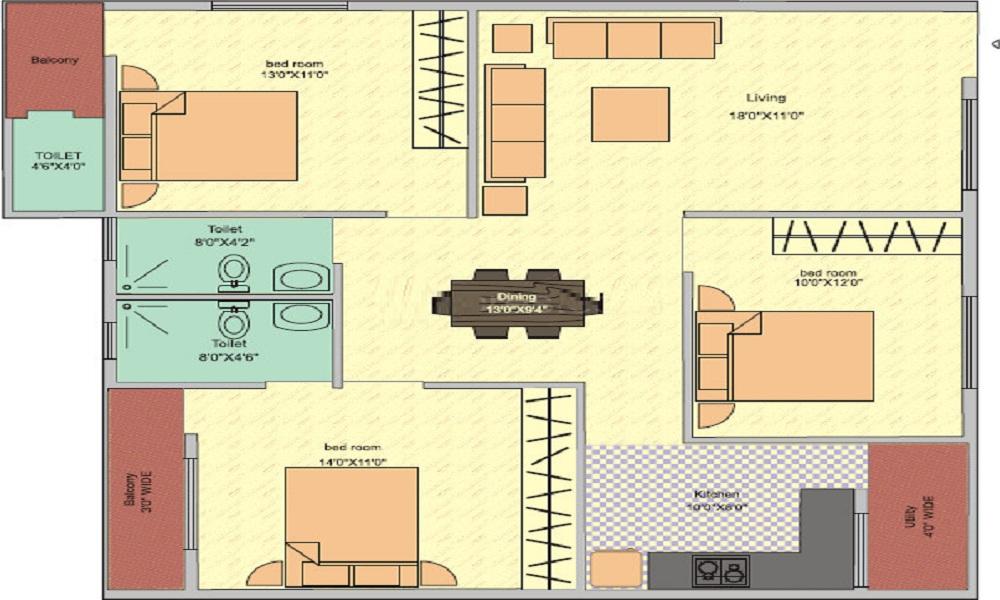 Amigo Sri Sai Paradise Floor Plan