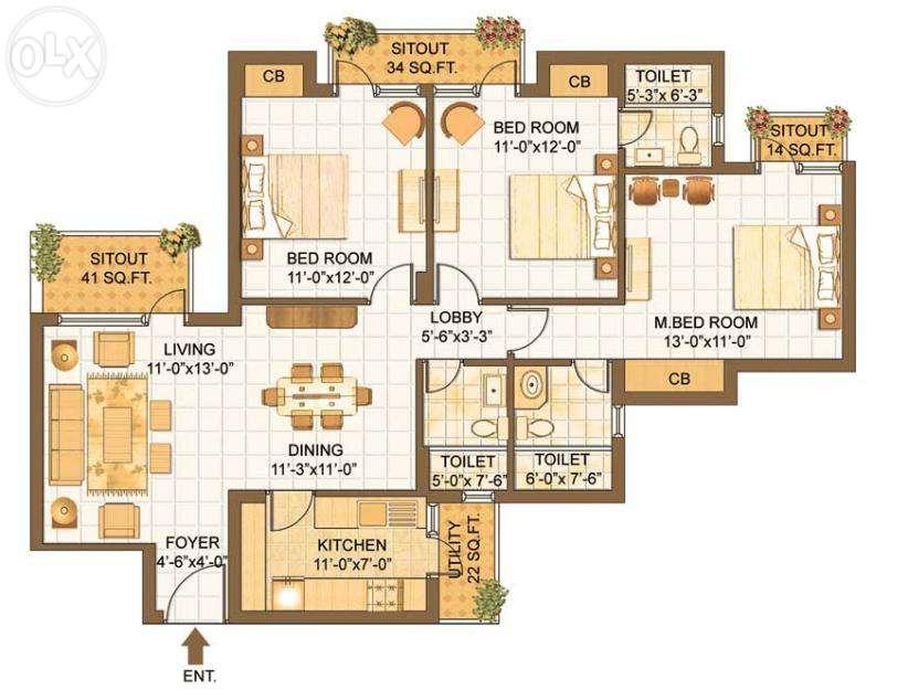 Divyasree 77 East Floor Plan