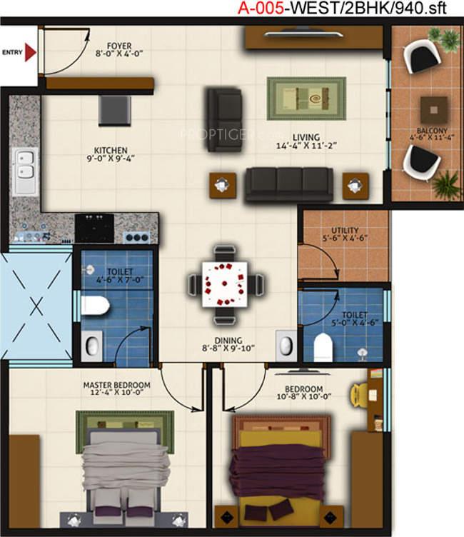 Ds Anu Paradise Floor Plan