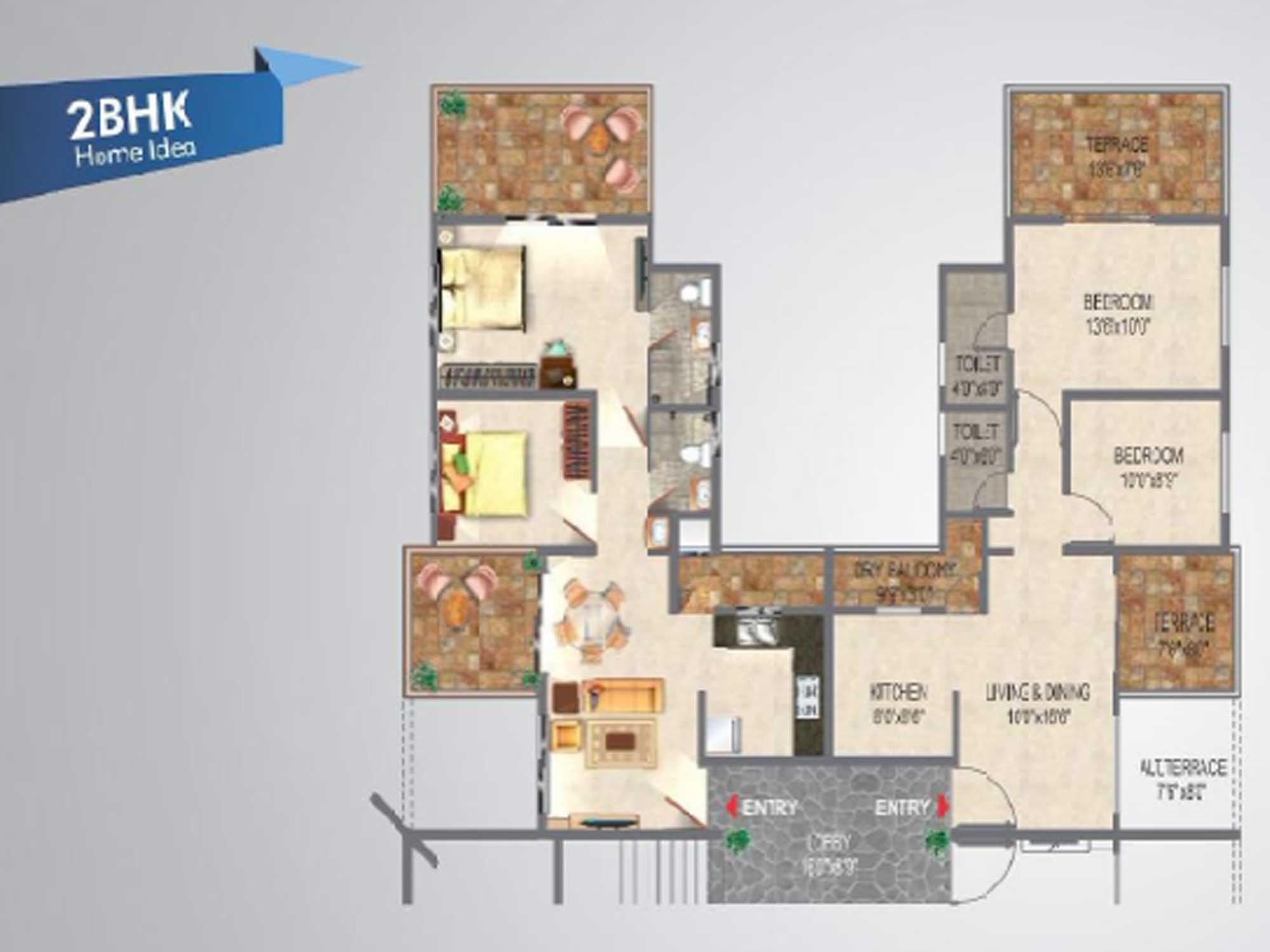 Gold Towers Floor Plan