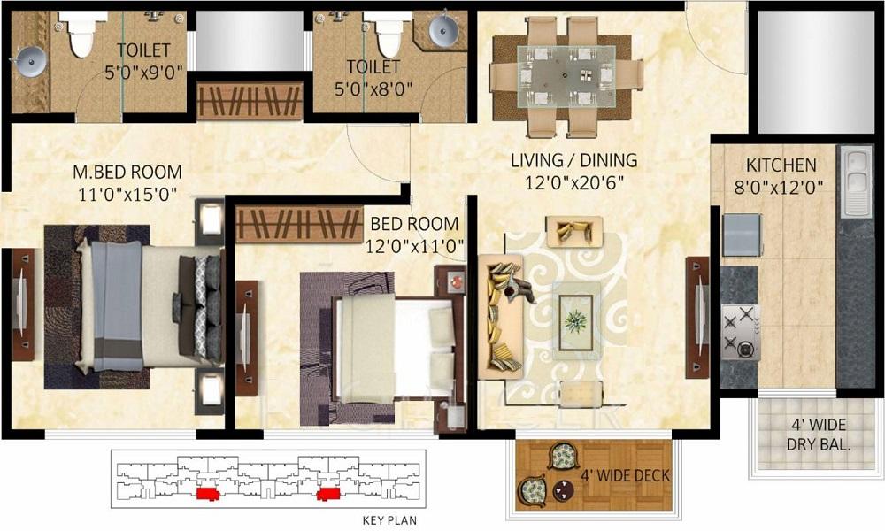 Mittal Elanza Floor Plan