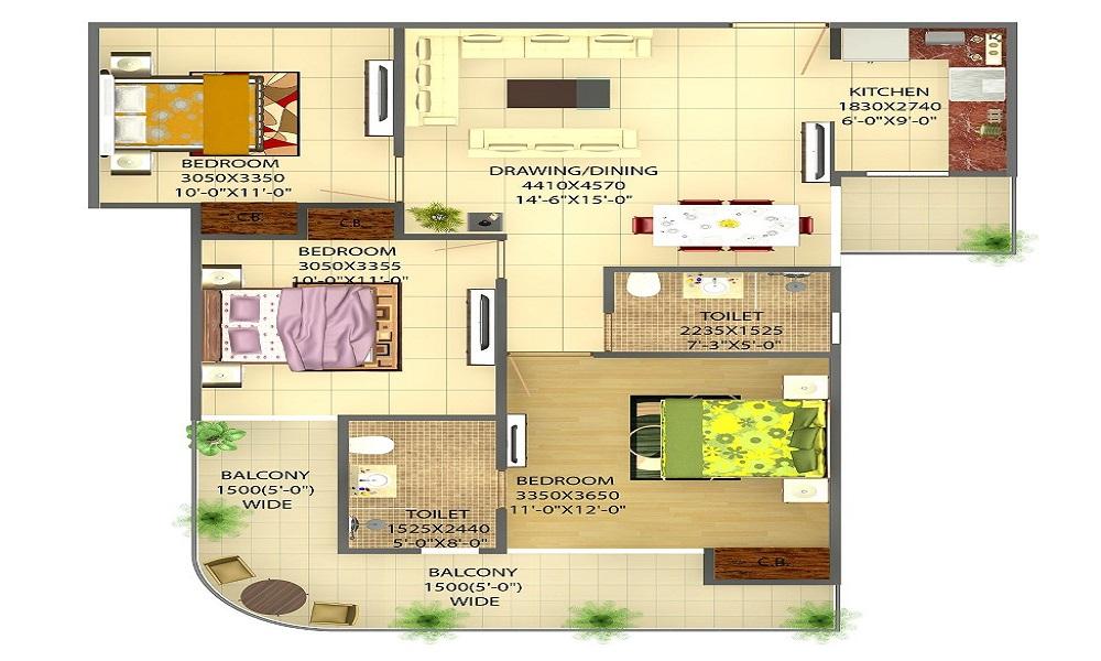 MS Sai Residency Floor Plan