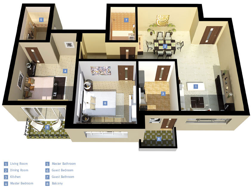 Pala Homes The Blue Lotus Floor Plan