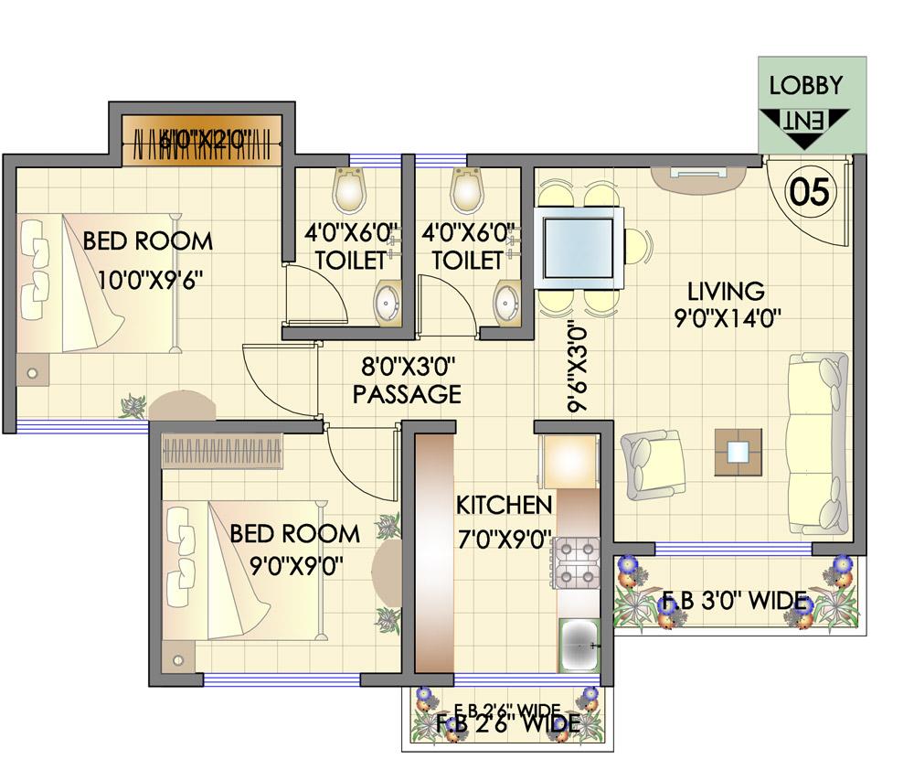 Prakruthi Royale Floor Plan
