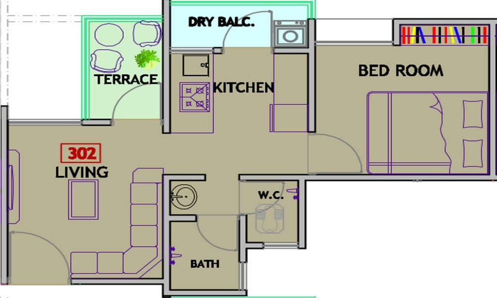 Mantra Residency Floor Plan