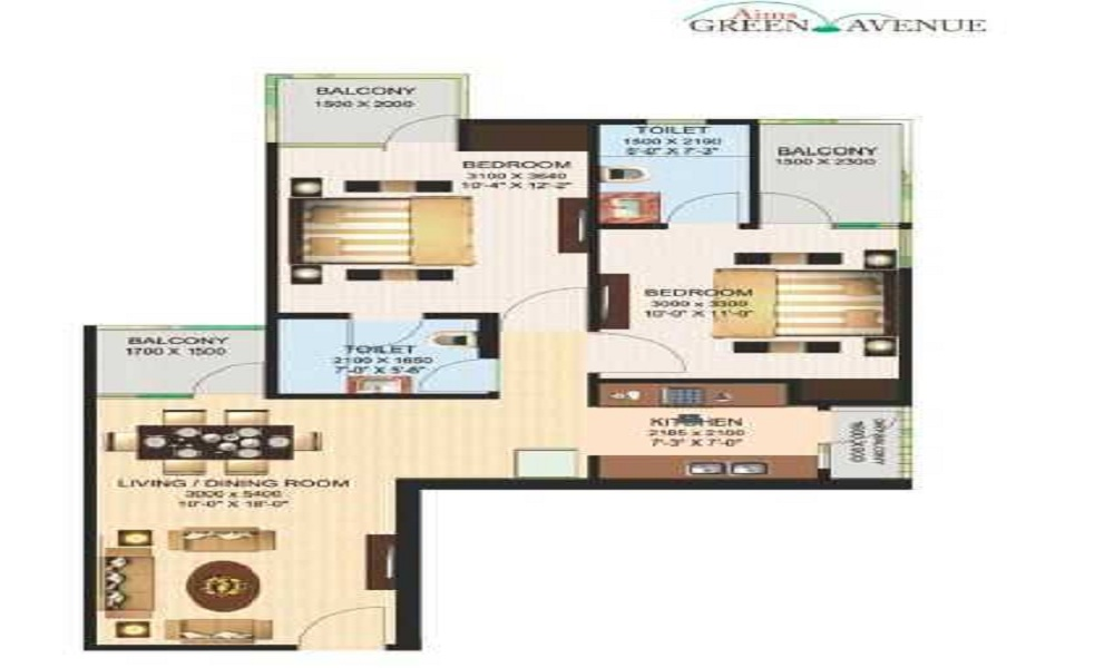 Aims Golf Town Floor Plan