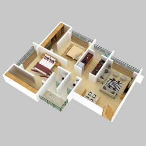 Renaissance Kalpataru Floor Plan
