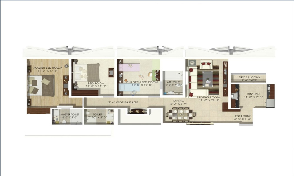 Renaissance Mangalam Floor Plan