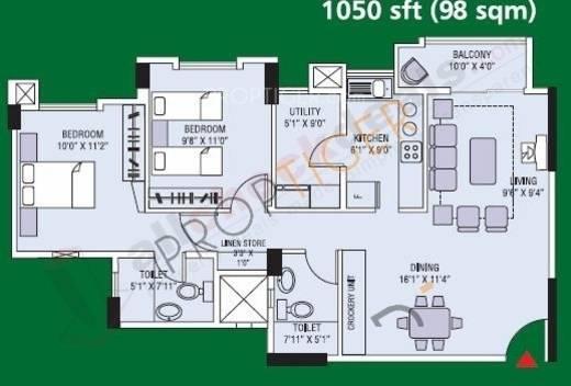 Rohan Mihira Floor Plan