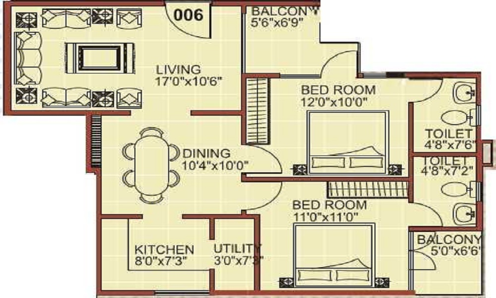 Sai Teja Solace Floor Plan