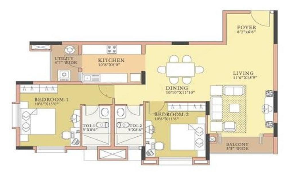Salarpuria Symphony Floor Plan