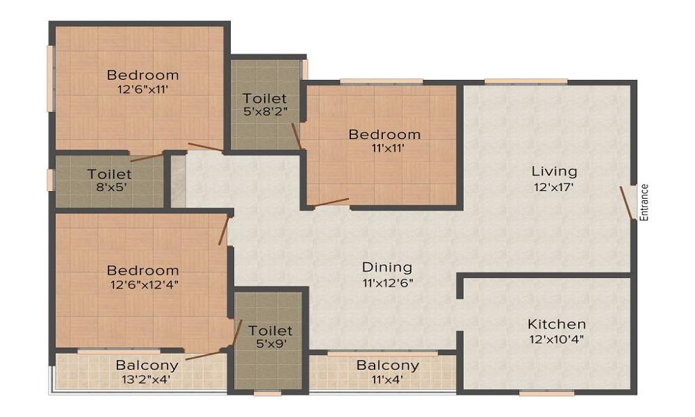 Scion Windflower Floor Plan