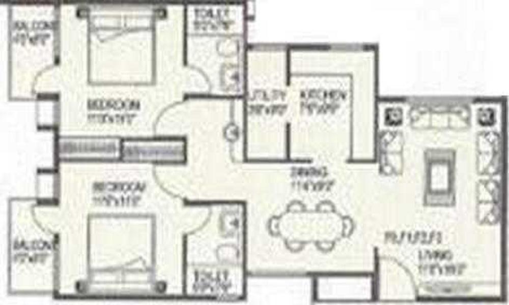 Shakthi High Lands Floor Plan