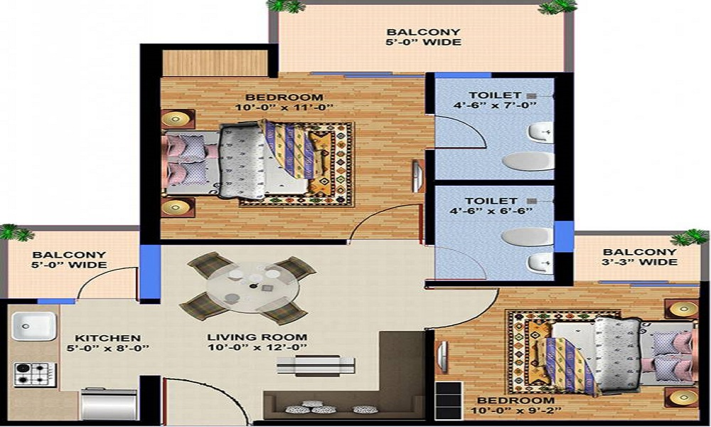 Ajnara Panorama Floor Plan