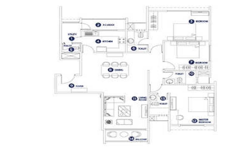 SKAV Aastha Floor Plan