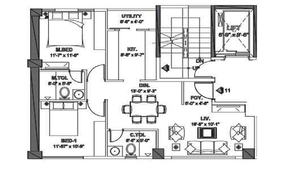SKAV Ahuja Laguna Floor Plan