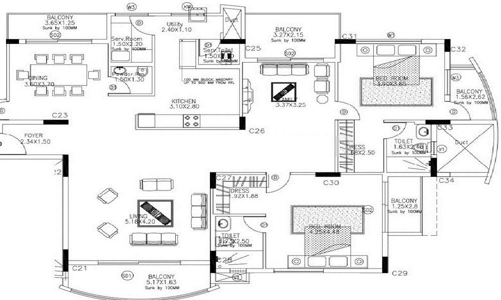 Skyline Acacia Floor Plan