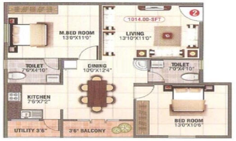 SLV Royal Floor Plan