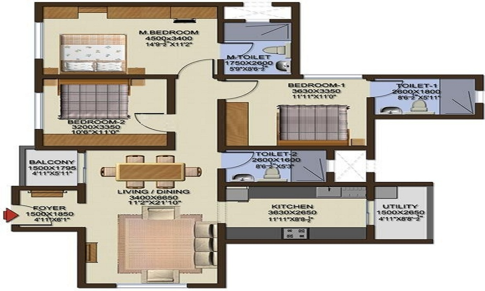 Sobha Cinnamon Floor Plan