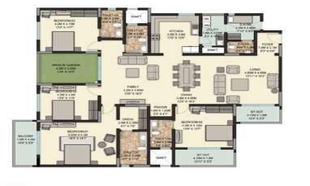 Sobha Palladian Floor Plan