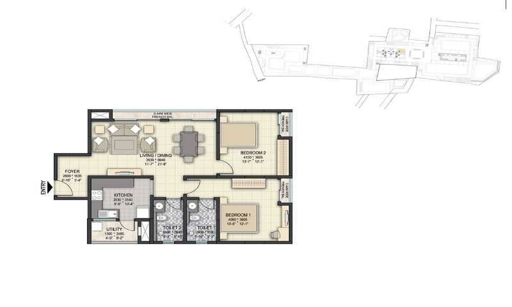 Sobha The Park And The Plaza Floor Plan