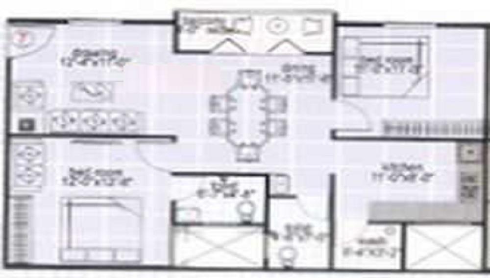 Shree Sapthagiri Meadows Floor Plan