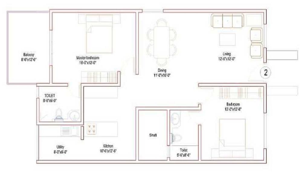 Srinivasa Sai Poorna High End Floor Plan