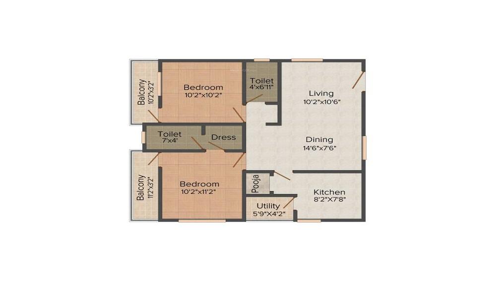 Vaastu Hill View 2 Floor Plan