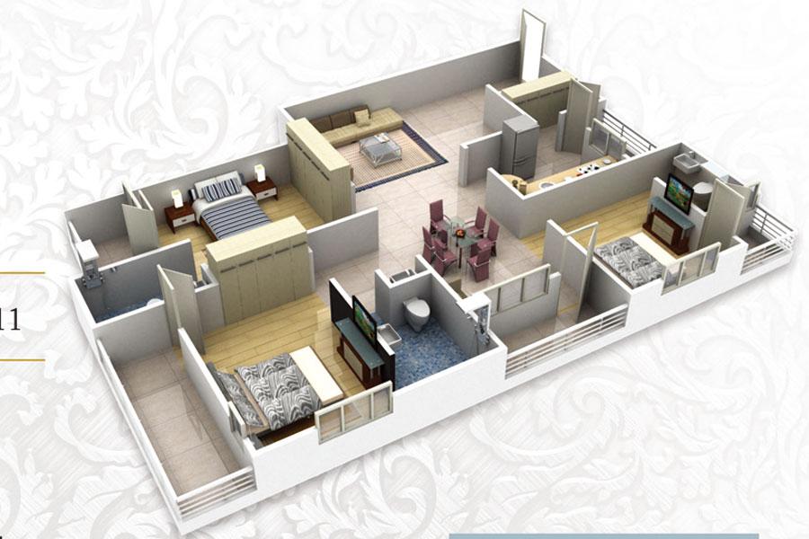 Vaswani Golf Vista Orchid Floor Plan