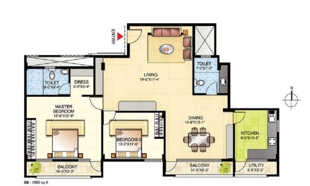 Yashaswinii Meadoows Floor Plan