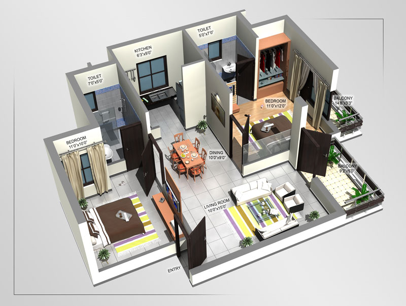 Vaishnavi Woods Floor Plan