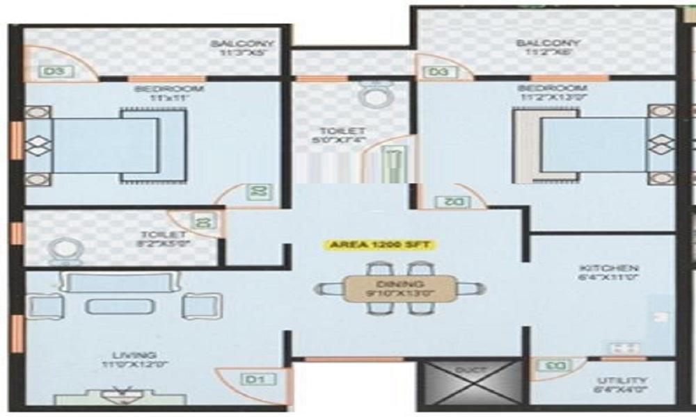 Sai Gowri Residency Floor Plan
