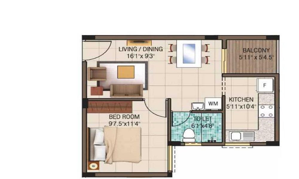 Kalpataru Serenity Floor Plan