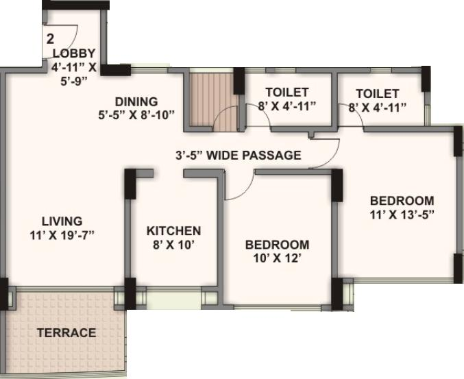 Kalpataru Harmony Floor Plan